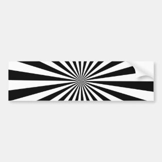 Black and White Ray Pattern Bumper Sticker