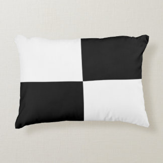 Black and White Rectangles Accent Pillow