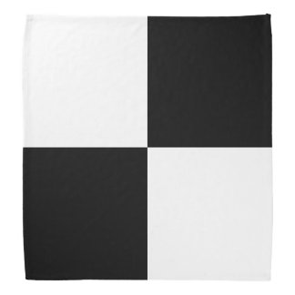 Black and White Rectangles Bandana