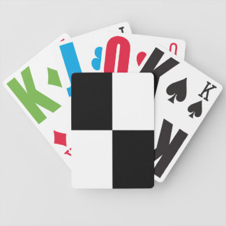 Black and White Rectangles Bicycle Playing Cards