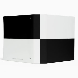 Black and White Rectangles Binder
