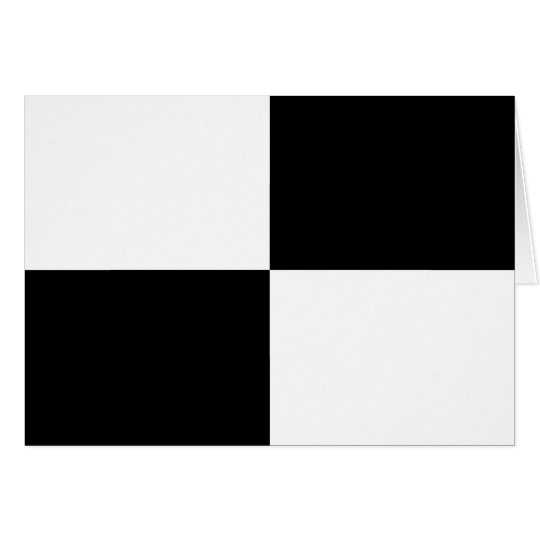 Black and White Rectangles Card
