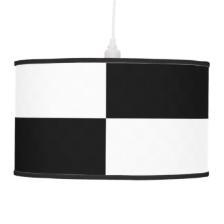 Black and White Rectangles Ceiling Lamp