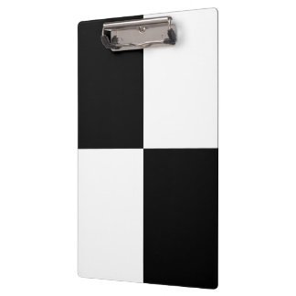 Black and White Rectangles Clipboard