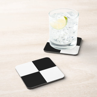 Black and White Rectangles Drink Coaster