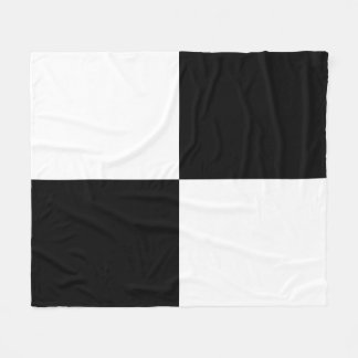 Black and White Rectangles Fleece Blanket