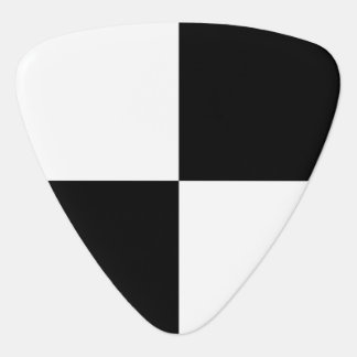 Black and White Rectangles Guitar Pick