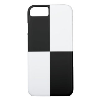 Black and White Rectangles iPhone 7 case