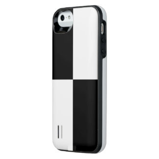 Black and White Rectangles iPhone SE/5/5s Battery Case