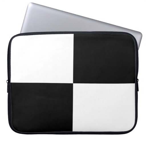 Black and White Rectangles Laptop Sleeve