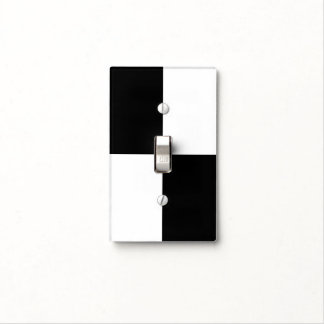 Black and White Rectangles Light Switch Cover