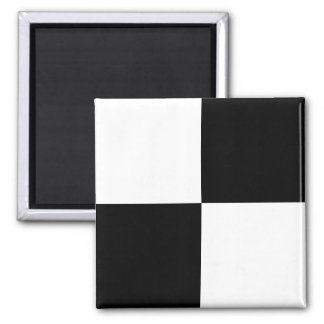 Black and White Rectangles Magnet