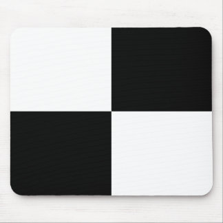 Black and White Rectangles Mouse Pad