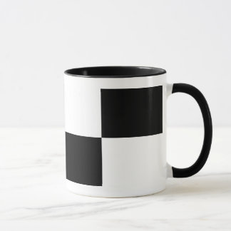 Black and White Rectangles Mug