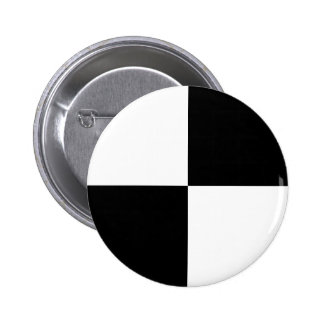 Black and White Rectangles Pinback Button