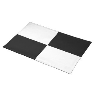 Black and White Rectangles Placemat