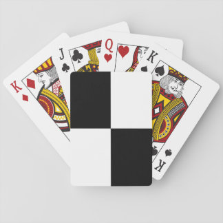 Black and White Rectangles Playing Cards