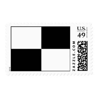 Black and White Rectangles Postage