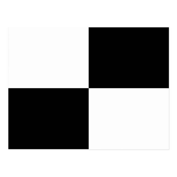 Black and White Rectangles Postcard