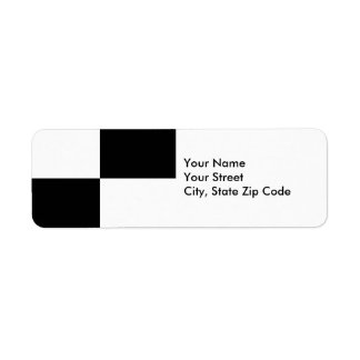 Black and White Rectangles return address label