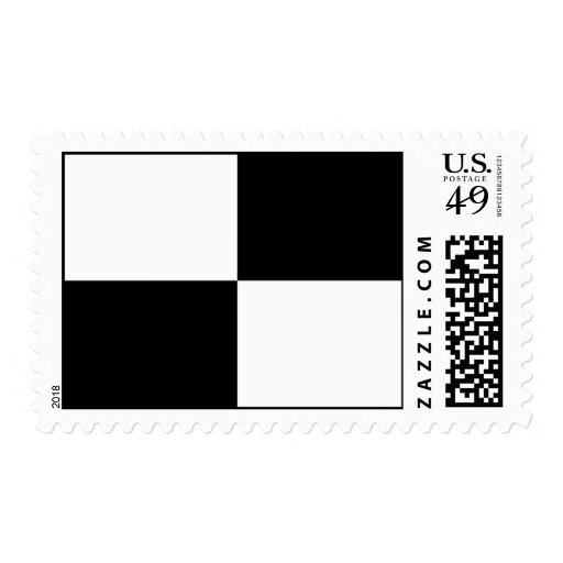Black and White Rectangles Stamps