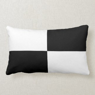 Black and White Rectangles Throw Pillows