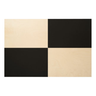 Black and White Rectangles Wood Wall Art