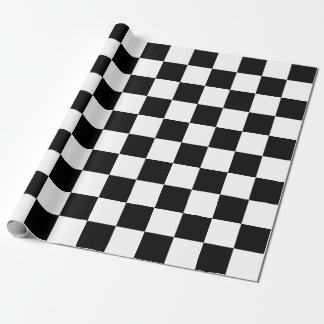 Black and White Rectangles Wrapping Paper