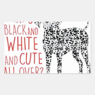Black And White Rectangular Sticker