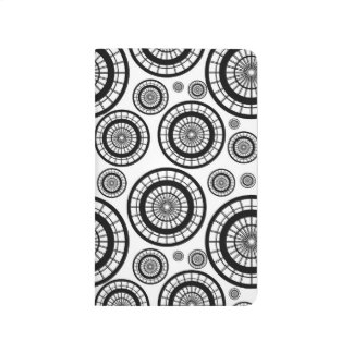 Black and White Repeating Wheel Pattern Journal