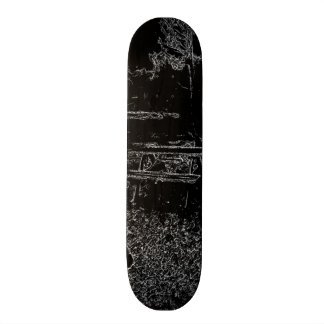 black and white resting place drawing skateboard deck