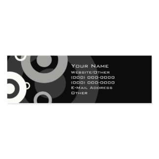 Black and White Retro Double-Sided Mini Business Cards (Pack Of 20)