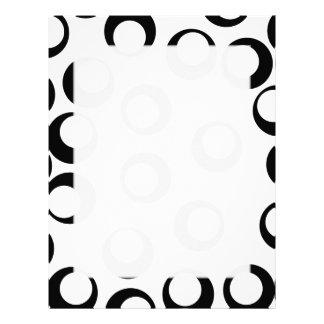 Black and White Retro Circles Pattern. Letterhead