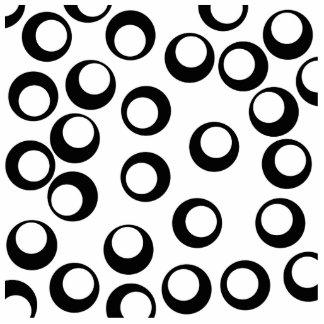 Black and White Retro Circles Pattern. Photo Cutouts