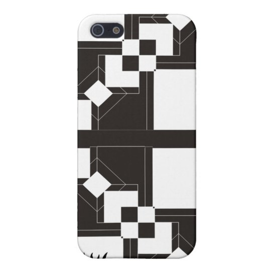 Black and white retro design with initials iPhone SE/5/5s cover
