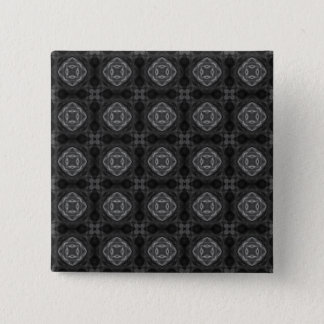 Black and White Retro Fractal Pattern Button