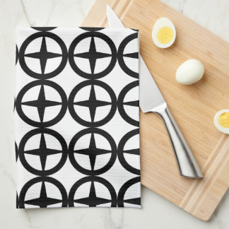 Black and White Retro Pattern Towels