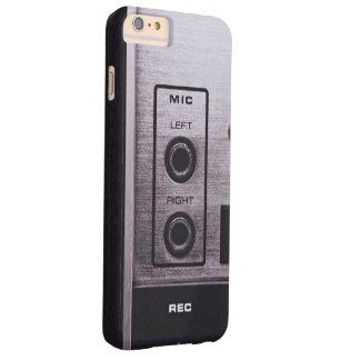 Black and white retro radio recorder barely there iPhone 6 plus case