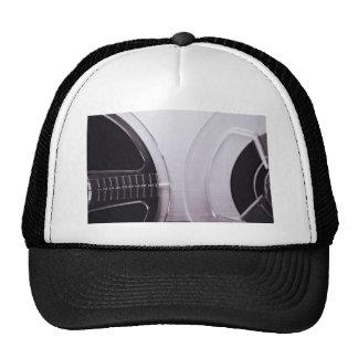 black and white retro radio sounds system trucker hat