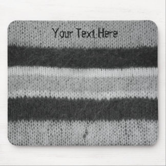 black and white retro style knitted design mouse pad