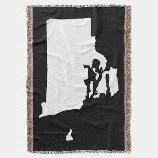Black and White Rhode Island Shape Throw