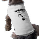 Black and White Ribbon In Memory of My Hero Dog T-shirt