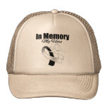 Black and White Ribbon In Memory of My Hero Hat
