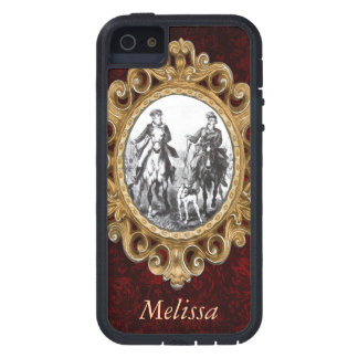 Black And White Riders On Horses Cover For iPhone 5