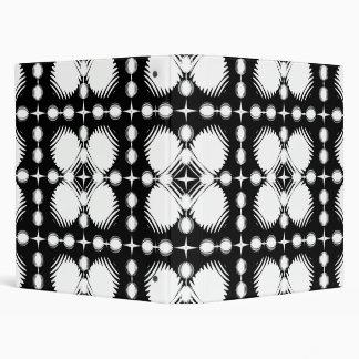 Black and White Ripples Big 3 Ring Binders