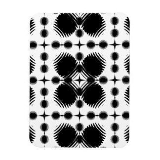 Black and White Ripples Big Inverted Magnets