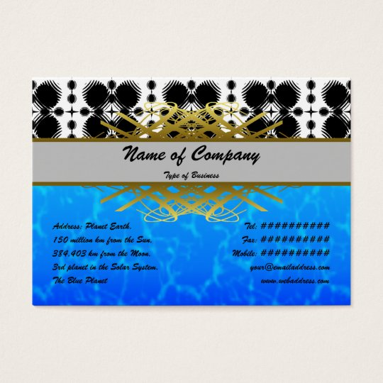 Black and White Ripples Small Inverted Business Card