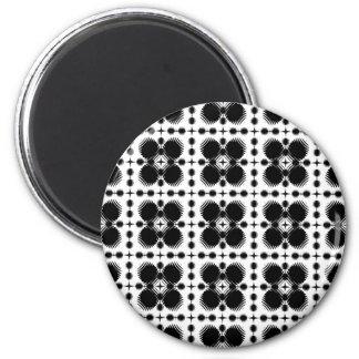 Black and White Ripples Small Inverted Fridge Magnet