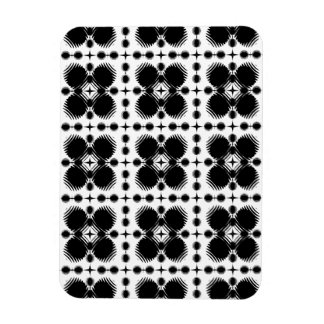 Black and White Ripples Small Inverted Flexible Magnets