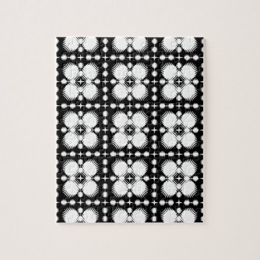 Black and White Ripples Small Jigsaw Puzzle